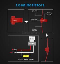 2 dual color 3157 3457 3057 switchback 60 led turn signal light bulb resistors [ 1200 x 1200 Pixel ]