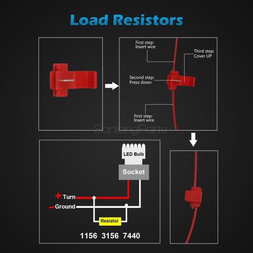 small resolution of 2 dual color 3157 3457 3057 switchback 60 led turn signal light bulb resistors