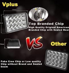 4 x6 led cree light bulb crystal clear sealed beam headlamp headlight 45w pcs 7 7 of 9  [ 1200 x 1200 Pixel ]
