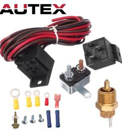 185 to 175 degree electric fan relay wiring 1930 32 34 47 48 for ford chevy [ 1200 x 1200 Pixel ]