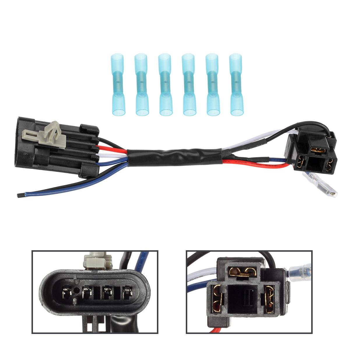 hight resolution of 1 5 3 4 inch 7 led headlight wire harness adapter for 2014 2017 harley davidson