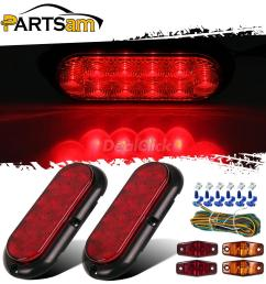 details about 2xred stop turn tail lights 4xred amber side marker lamps w wire harness utility [ 1200 x 1200 Pixel ]