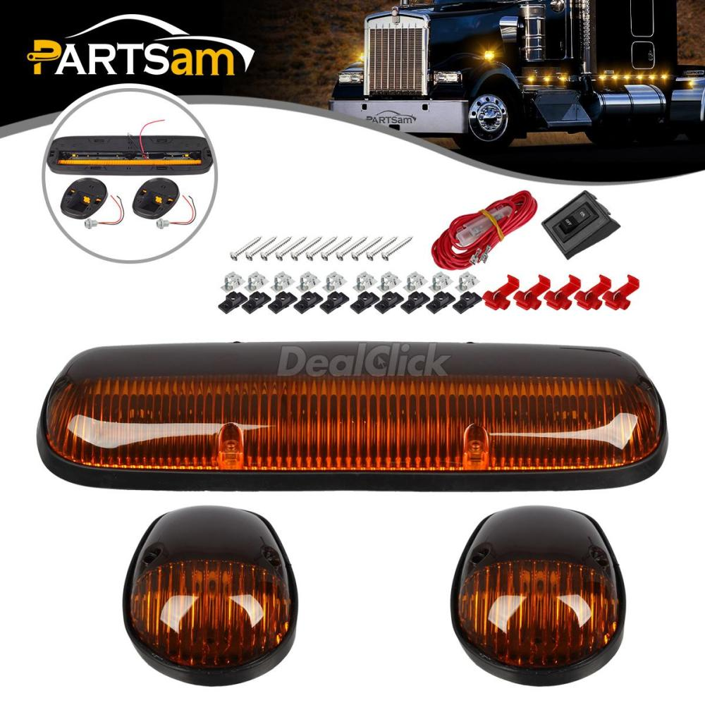 medium resolution of details about 3x amber cab clearance marker light lens base housing w wire for 02 07 chevy gmc