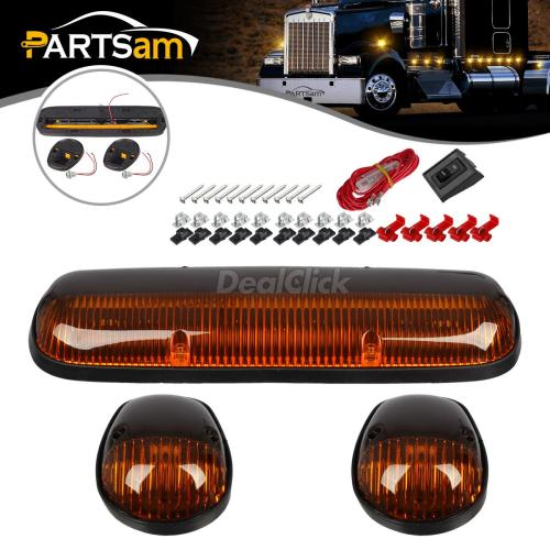 small resolution of details about 3x amber cab clearance marker light lens base housing w wire for 02 07 chevy gmc