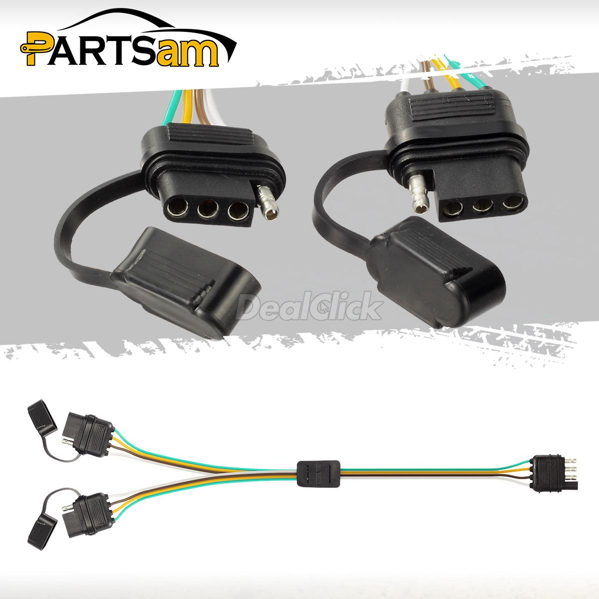 hight resolution of details about trailer splitter 2 way 4 pin y split wiring harness adapter for led tailgate bar