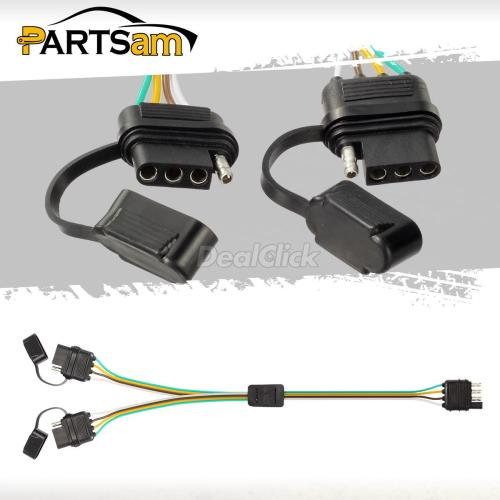 small resolution of details about trailer splitter 2 way 4 pin y split wiring harness adapter for led tailgate bar