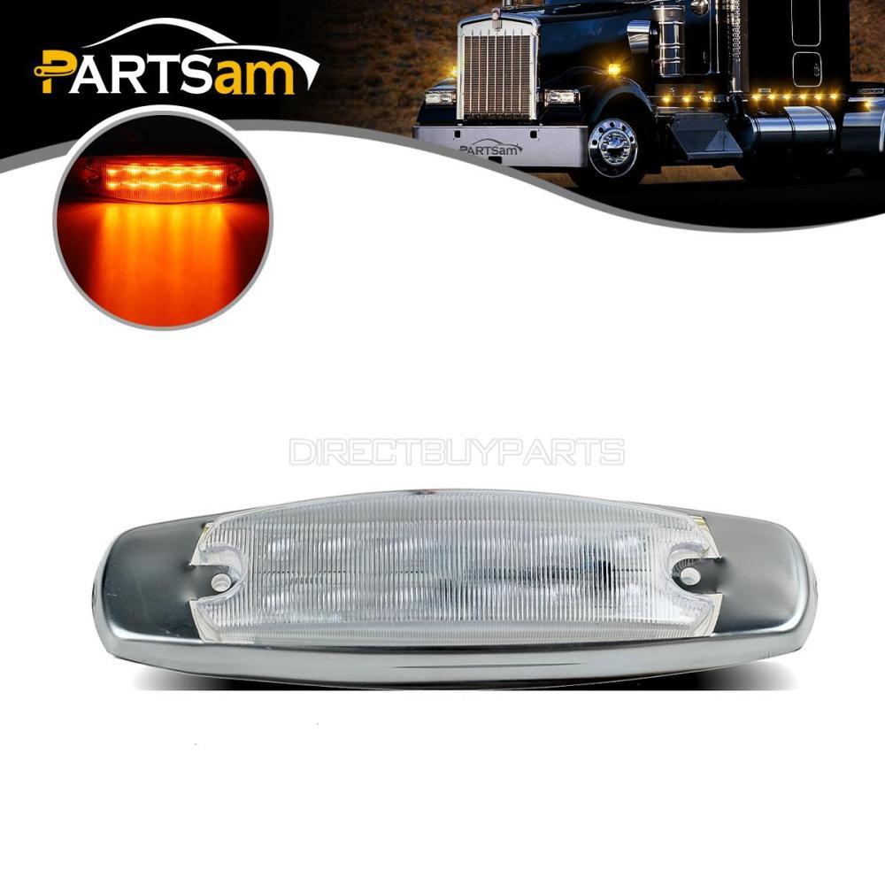 medium resolution of amber led cab side marker lights for peterbilt kenworth truck trailer clear lens