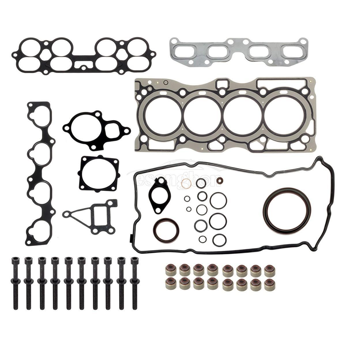 Cylinder Head Gasket Bolts Kit For Nissan Altima Sentra SE