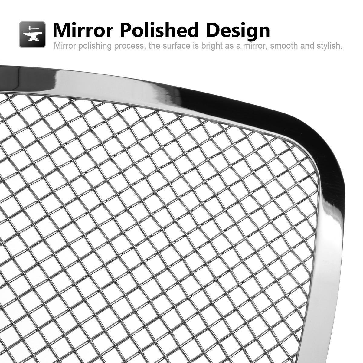 Chrome S/S Mesh Grille Grill Insert 1.8mm Wire Fits 06-08
