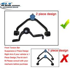 upper control arm and ball joint tie rods sway bar 8 pcs for 98 03 ford explorer 4 4 of 9  [ 1200 x 1200 Pixel ]
