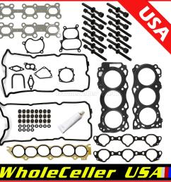 image is loading cylinder head gasket bolts kit for 02 09  [ 1200 x 1200 Pixel ]