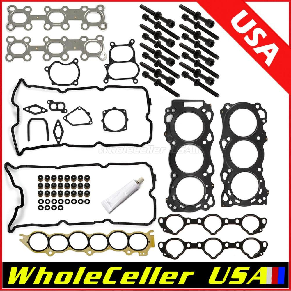 medium resolution of image is loading cylinder head gasket bolts kit for 02 09