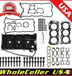 details about fits 02 09 nissan altima maxima cylinder head gasket bolts kit 3 5l vq35de [ 1200 x 1199 Pixel ]