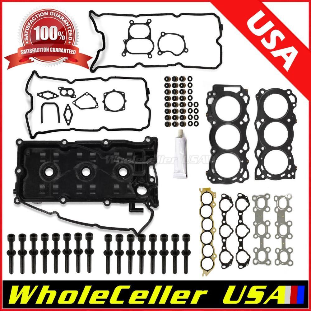 medium resolution of details about fits 02 09 nissan altima maxima cylinder head gasket bolts kit 3 5l vq35de