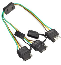 pairs trailer wiring harness extension 4 pin plug  [ 1200 x 1200 Pixel ]