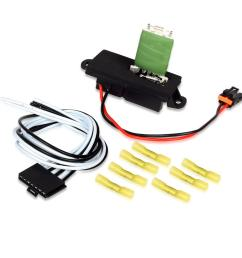 details about hvac blower motor resistor w wire harness for 00 06 gmc yukon xl 1500 2500 new [ 1200 x 1200 Pixel ]