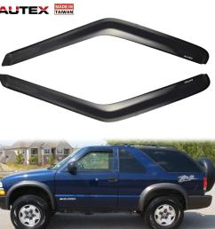 details about 2x original acrylic front window visors for 95 05 chevy blazer chevy s10 pickup [ 1200 x 1200 Pixel ]