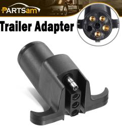 details about rv boat trailer light connector adapter 6 way round pin to 4 way flat plug black [ 1200 x 1200 Pixel ]