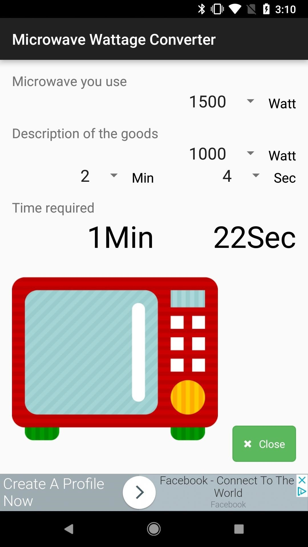 easily convert cooking times for your