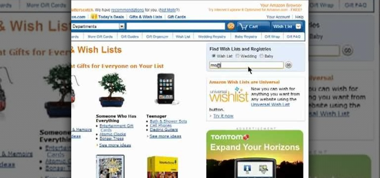 How to Search Amazon to find wish lists and wedding registries  Internet  Gadget Hacks