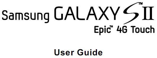 [Download] Sprint's Samsung Epic 4G Touch User Guide