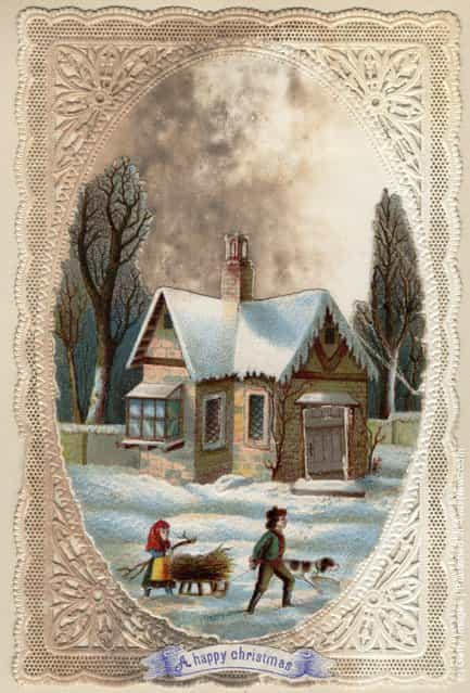 Vintage Christmas Cards GagDaily News