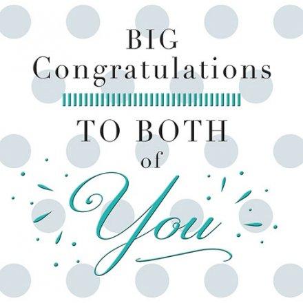 big congratulations to both
