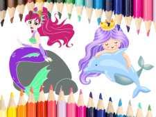 Livre de coloriage de sirène