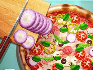 لعبة طهي البيتزا