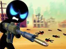 Stickman Armed Assassin Going Down