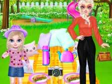 Día de picnic familiar de la princesa
