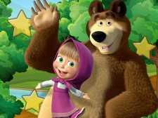 小女孩和熊隐藏的星星