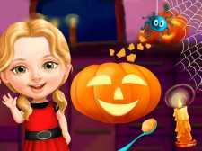 Dulce niña de Halloween divertido