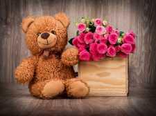 可爱的泰迪熊拼图