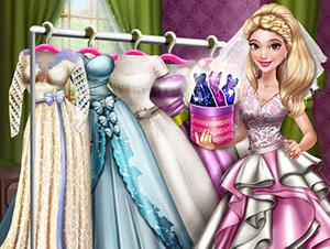 لعبة تلبيس باربي العروسة فستان
