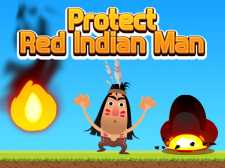 Protect Red Indian Man