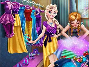 لعبة ترتيب ملابس ملكة الثلج واختها