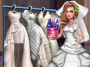 لعبة تلبيس فستان زفاف دوللي