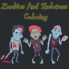 Zombiler ve iskeletler boyama
