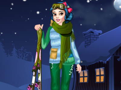 لعبة ملابس التزحلق على الجليد
