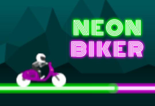 لعبة نيون راكب الدراجة النارية