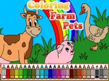 Coloring Farm Pets