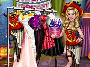 لعبة تلبيس الاميرة ملابس الحفلة