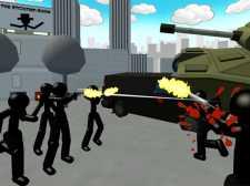 Çöp Adam Şehir Atış 3D