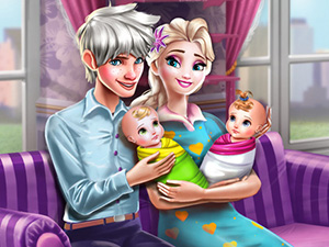 لعبة ملكة الثلج واطفالها وزوجها