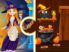 Puzzles d'Halloween de la maison des sorcières