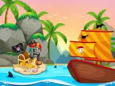 Раскраска Пиратское Путешествие