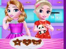 Küçük kızlar mutfak zamanı