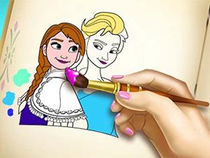 لعبة رسم وتلوين ملكة الثلج