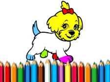 防弹少年团小狗着色书